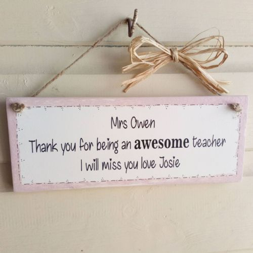 End Of Term Personalised Teacher Gift